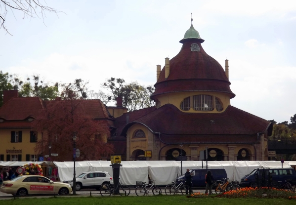 здание вокзала Mexikoplatz