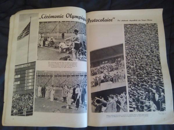 разворот журнала 1936 года, посвященного Олимпиаде